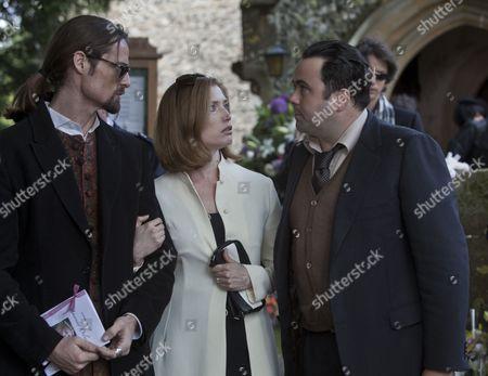 William Miller as Rupert Mitchell, Samantha Coughlan as Helen Mitchell and Celyn Jones as DS Paul Barolli