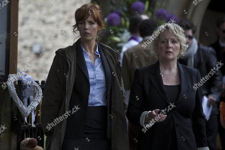 Kelly Reilly as DI Anna Travis. and Michelle Holmes as DC Barbara Maddox