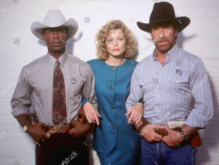 Stock Image of Walker Texas Ranger ,  Clarence Gilyard,  Sheree Wilson,  Chuck Norris