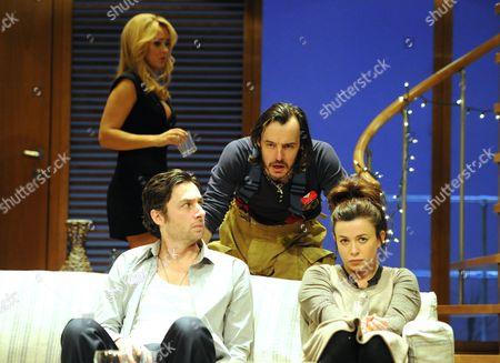 Susannah Fielding (Kim), Zach Braff (Charlie), Paul Hilton (Myron) and Eve Myles (Emma)