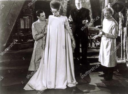 The Bride Of Frankenstein,  Colin Clive,  Elsa Lanchester,  Boris Karloff,  Ernest Thesiger
