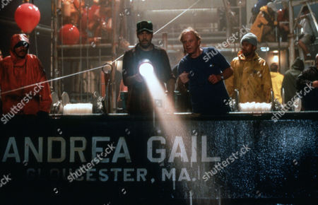 """Max McElligott Petersen (Director) on Set """"the Perfect Storm (2000)"""" with George Clooney"""