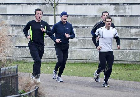 David Cameron and Matt Roberts