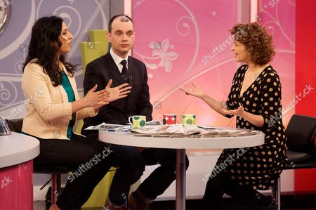 Aasmah Mir and Sam Delaney with Nadia Sawalha