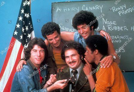Welcome Back Kotter ,  John Travolta,  Ron Palillo,  Gabriel Kaplan,  Robert Hegyes,  Lawrence Hilton-jacobs