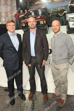 Ray Mears, Monty Halls and Ben Saunders