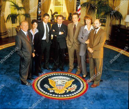 The West Wing ,  John Spencer,  Moira Kelly,  Rob Lowe,  Martin Sheen,  Bradley Whitford,  Allison Janney,  Richard Schiff