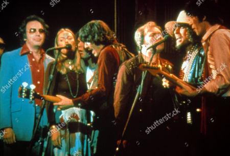 'The Last Waltz' - Neil Diamond, Joni Mitchell, Neil Young, Rick Danko, Van Morrison, Bob Dylan and Robbie Robertson