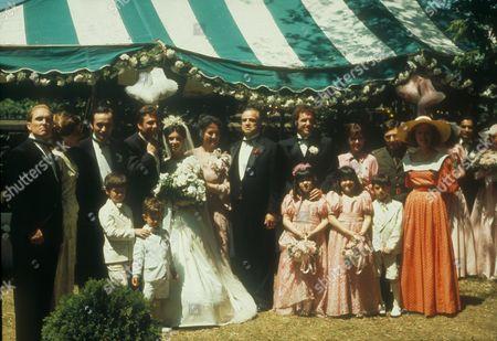 The Godfather,  Robert Duvall,  John Cazale,  Gianni Russo,  Talia Shire,  Morgana King,  Marlon Brando,  James Caan,  Al Pacino,  Diane Keaton