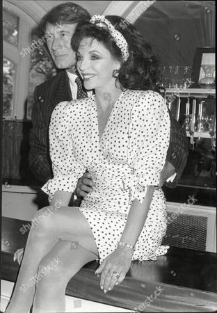 Actress Joan Collins With Keith Baxter Her Co-star In Theatrical Play 'private Lives'.