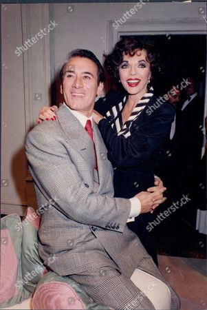 Actress Joan Collins With Actor Keith Baxter Her Co-star In Play 'private Lives'