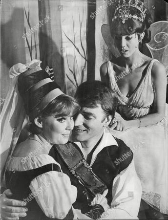 Gillian Bowden Dancer With Frank Ifield Singer And Tricia Money Actor All In Pantomime Babes In The Wood At London Palladium 1965.