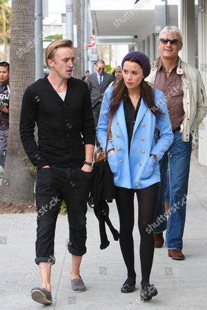 Tom Felton, Jade Olivia and Family