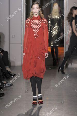 Editorial photo of Rue du Mail by Martine Sitbon show, Autumn Winter 2012, Paris Fashion Week, Paris, France - 01 Mar 2012