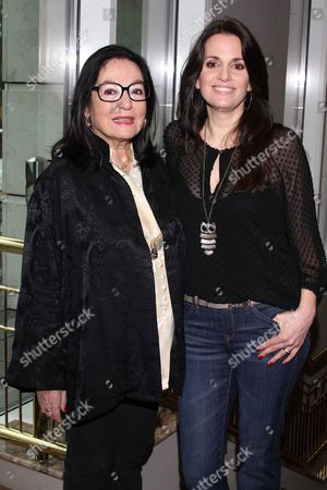 Stock Photo of Nana Mouskouri and daughter Lenou Petsilas