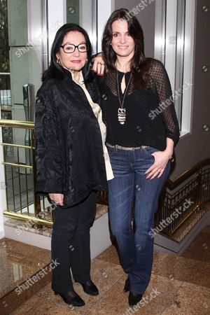 Stock Picture of Nana Mouskouri and daughter Lenou Petsilas