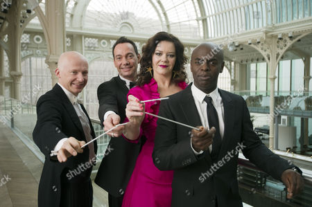 Stock Picture of Prof Professor Marcus Du Sautoy, Craig Revel Horwood, Josie Lawrence and Trevor Nelson