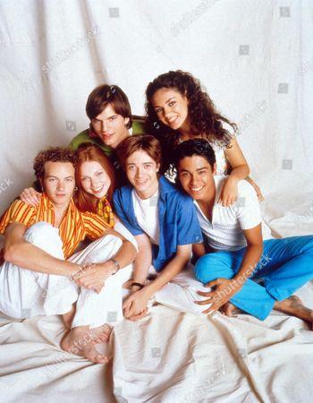 Stock Picture of That 70's Show ,  Danny Masterson,  Laura Prepon,  Ashton Kutcher,  Topher Grace,  Mila Kunis,  Wilmer Valderama