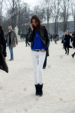Editorial photo of Street Style, Paris Fashion Week, Paris, France - 29 Feb 2012