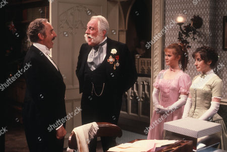 Nigel Hawthorne as The Hon. Vere Queckett, Charles Gray as Rear Admiral Archibald Rankling, Sarah Prince as Gwendoline Hawkins