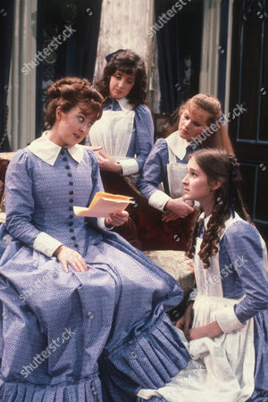 Jane Carr as Peggy Hesselrigge, Amanda Kirby as Ermyntrude Johnson, Sarah Prince as Gwendoline Hawkins