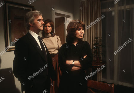Bernard Gallagher as Derek Gayton, Joanna Dunham as Jean Gayton and Jan Francis as Prudence Dunning