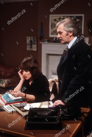 Jan Francis as Prudence Dunning and Bernard Gallagher as Derek Gayton