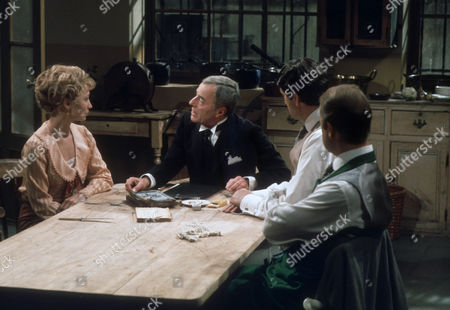 Felicity Kendal as Victoria, Hugh Paddick as Raham, Daniel Massey as Major William Cardew and John Standing as Major Frederick Lowndes