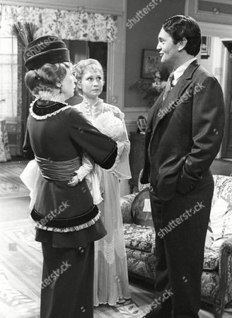 Stock Photo of Joan Haythorne as Mrs Shuttleworth, Felicity Kendal as Victoria and Daniel Massey as Major William Cardew
