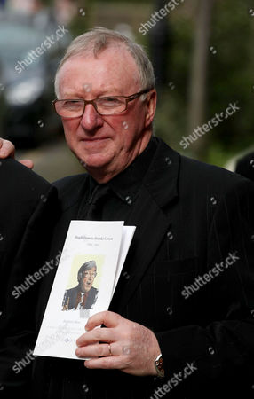 Dennis Taylor with order of service