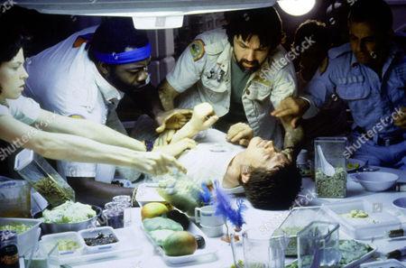 Alien ,  Sigourney Weaver; Yaphet Kotto; Tom Skerritt; John Hurt