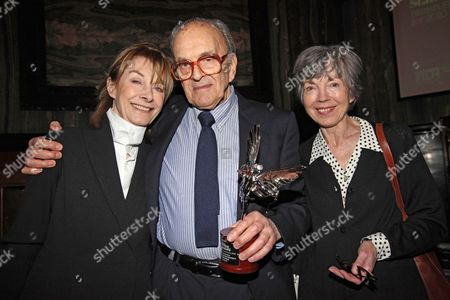 Evening Standard Film Awards . Best Documentary A Day In The Life Director John Krish With Actress Jean Marsh And His Wife (right) Carol
