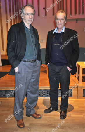 Martin Amis (r) As Professor Of Creative Writing At Manchester University Gives A Lecture To Students At Manchester University With Writer Ian Mcewan.