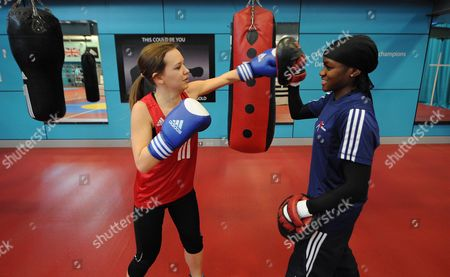 Women's Boxing Feature: Olympic Prospect Nicola Adams And Emma Reynolds At The English Institute Of Sport Sheffield