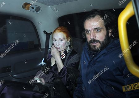 The Fashion Designer Vivian Westwood And Her Husband Leave The Royal Opera House Covent Garden After Watching The Opera Anna Nicole.