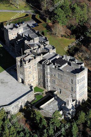 Aerial Shot Of Drogo Castle Drewsteignton Devon For Feature By Guy Walters.