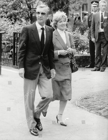 Editorial image of Norman Vaughan And Janet Brown At Eric Morecambe's Funeral