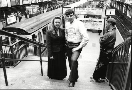 Editorial image of Guardian Angels Trying To Prevent Crime On The Underground Trains And Stations In London Pictured Angels Leader Curtis Sliwa With Actress Kate Gorman Who Had Her Purse Stolen On Tube The Guardian Angels Is A Non-profit International Volunteer Organiz