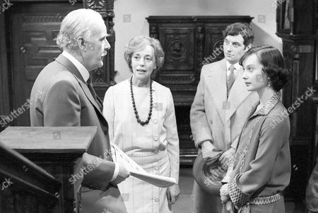 Richard Vernon as Lord Grenham, Gwen Watford as Lady Frinton, James Hazeldine as Martin Steele and Nicola Pagett as Margot Tatham