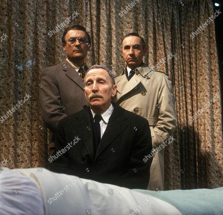 Edward Woodward as Ian, Alfred Burke as Harry and Nigel Hawthorne as Trevor