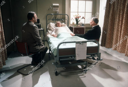 Stock Picture of Edward Woodward as Ian, Betty Turner as Emily and Alfred Burke as Harry