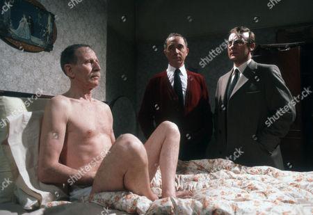 Alfred Burke as Harry, Nigel Hawthorne as Trevor and Edward Woodward as Ian