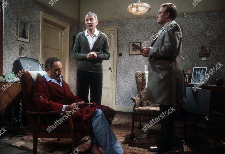 Nigel Hawthorne as Trevor, Alfred Burke as Harry and Edward Woodward as Ian