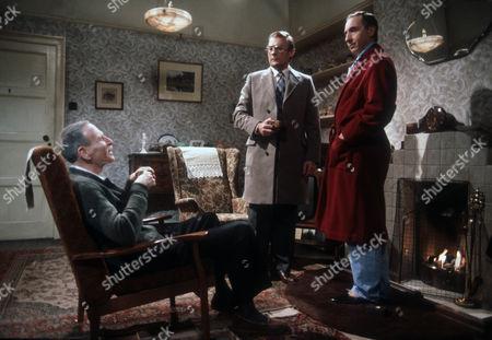 Alfred Burke as Harry, Edward Woodward as Ian and Nigel Hawthorne as Trevor