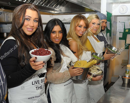 Editorial image of TOWIE Charity Cook off at Shoreditch Waterhouse, London, Britain - 05 Mar 2012
