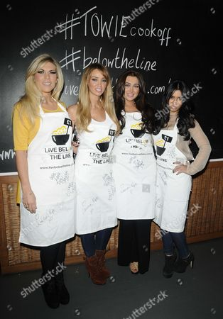 Stock Picture of Frankie Essex, Lauren Pope, Lauren Goodger and Peri Sinclair