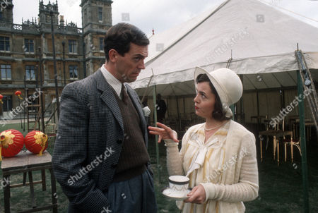 Stock Image of Hugh Laurie as Bertie Wooster and Charlotte Attenborough as Stiffy Byng