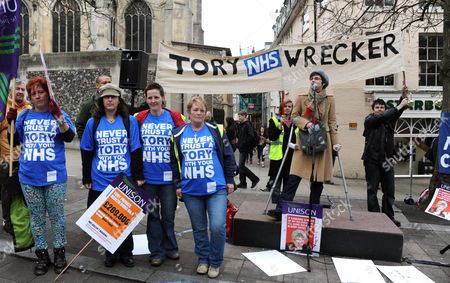 Chloe Smith MP and protesters
