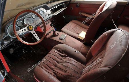 Interior of the 1961 Ferrari 250 GTE car
