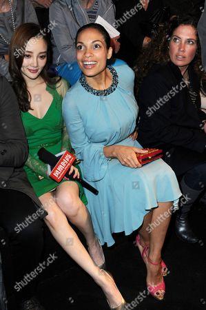 Stock Picture of Li Xiaolu and Rosario Dawson
